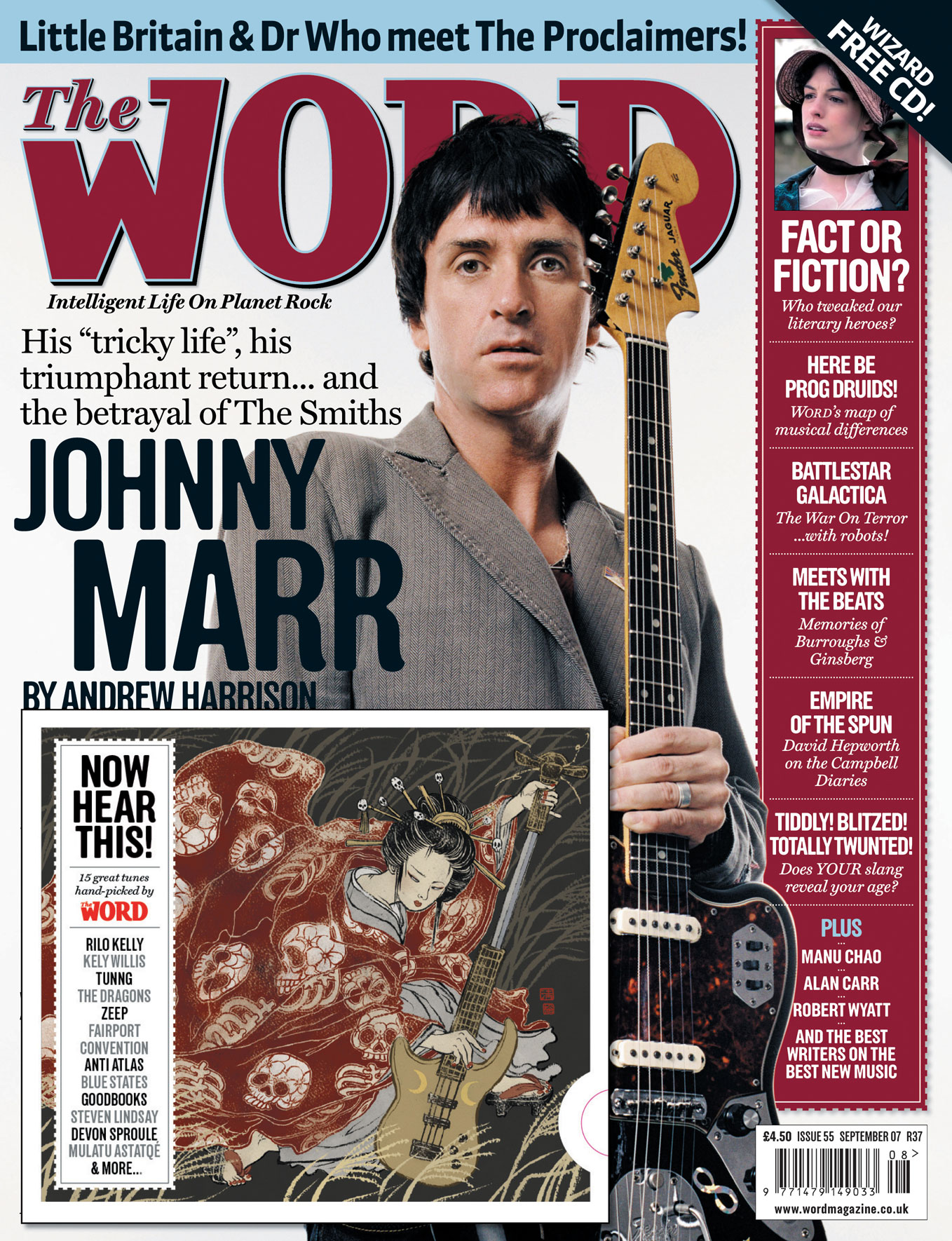 Johnny Marr interview in The Word (Sep  2007), Smiths box