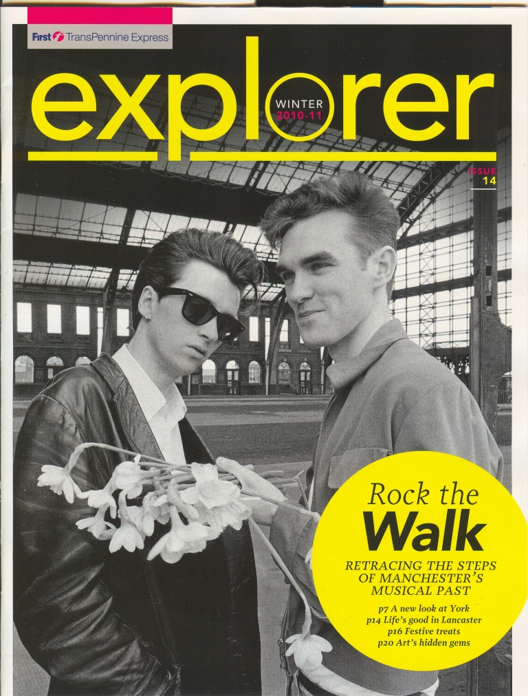 The Smiths featured on cover on Express Explorer magazine